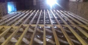 Refection de dalle bois pour grenier sur poutres anciennes